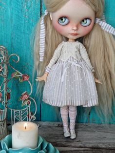 Blythe doll outfit *Nordic bliss* - OOAK vintage style long sleeves