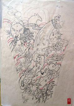 ... Tattoo & Custom Japanese Tattoo design. Tatouage Japonais Bruxelles