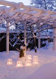 Pihan jouluvalot – 12 tunnelmallista ideaa | Meillä kotona Outdoor Christmas Decorations, Table Decorations, Outdoor Decor, Christmas Home, Winter, Diy And Crafts, Scenery, Pink, Snowman