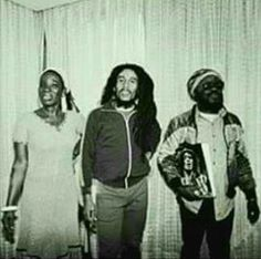 **Bob Marley** Rita Marley & Aston 'Family Man' Barrett, Milan, Italy, June 27, 1980. Bob Marley & The Wailers are receiving the Golden Record Award. More fantastic pictures, music and videos of *Robert Nesta Marley* on: https://de.pinterest.com/ReggaeHeart/