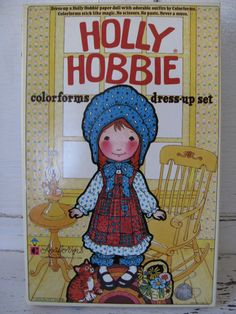 Holly Hobbie Colorforms Dress Up Set Brand by vintagefrenchchic, $15.00  I so had a holly hobbie doll as a kid!
