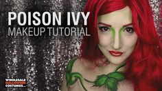Of all the villains to plague Gotham, Poison Ivy might be the worst. Transform into this adversary of Batman with the help of our makeup tutorial. Wholesale Halloween Costumes, Creative Halloween Costumes, Halloween Masks, Halloween Make Up, Halloween Face Makeup, Poison Ivy Makeup, Batman Costumes, Special Effects Makeup, Sfx Makeup
