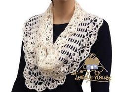 Donne Pizzo Crochet Scarflette Fiore Keyhole Scarf Inverno | Etsy Crochet Flower Scarf, Lace Scarf, Hand Crochet, Crochet Neck Warmer, Short Neck, Neck Scarves, Womens Scarves, Feminine, Wool