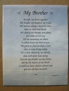 prayer for my brother my brother quotes brother poems missing my