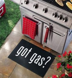 Got Gas? Grill Mat - Backyard BBQ decorations - Father's Day Gift - TOO FUNNY!