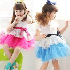2013 summer korean children lace sasa stitching ribbons baby girls short-sleeved dress child children 6091 only $10.48USD a Piece