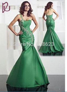 >> Click to Buy << DAE1761  Top Quality Custom-Made !New Style One Shoulder Taffeta Floor Length Mermaid Dress Evening #Affiliate