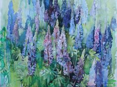 Beautifully painted lupines.