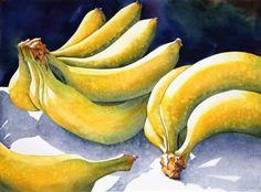 Sue Archer - watercolor bananas