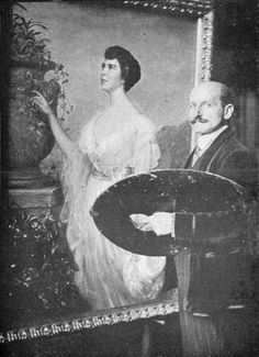 3/29- Happy Birthday, Adolfo Müller-Ury, Swiss-American portrait and impressionist painter, 1862-1947.