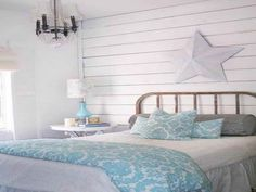 Young and Classic Seaside Beach House Bedroom Interior Design