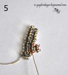 "This MIGHT be what is being referred to as the ""new"" beading stitch."