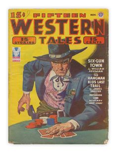 """Fifteen Western Tales"" published by Popular Publications, November 1943."
