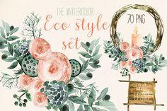 Watercolor Cactus / Succulent Clip Art Design Images. Love these!