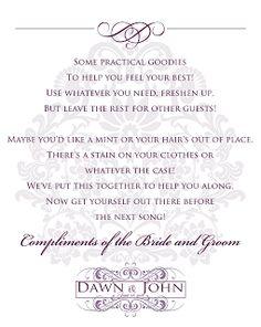 Wedding stationery for Dawn