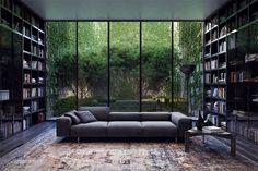 Del Oro Luxus Apartment Homes Home Library Design, Dream Home Design, Modern House Design, My Dream Home, Home Interior Design, Interior Architecture, Modern Library, Modern Houses, Dream House Interior