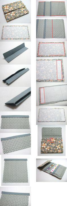 . Diy Wallet, Fabric Wallet, Wallet Tutorial, Fabric Bags, Card Wallet, Bag Patterns To Sew, Sewing Patterns, Sewing Tutorials, Sewing Projects