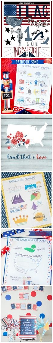4th of July prints for decoration and party planning