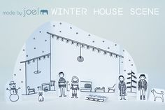winter play printable: printable dolls house for pretend play with a winter theme