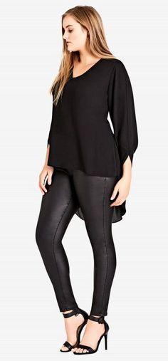 Plus Size Hi Low Top - Plus Size Fashion for Women #plussize