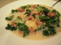 Sausage and Kale Soup. Crock pot Paleo