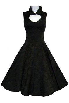 Black Brocade Gothic Dress by Hearts