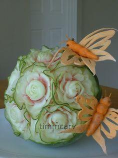 Ruffle melon bowl by wtimm9, via Flickr