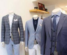 Canali super 130 suit with waistcoast. Suit Jacket, Blazer, Suits, Button, Jackets, Fashion, Down Jackets, Moda, Fashion Styles