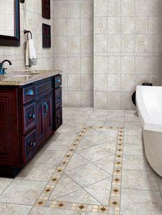 Bathroom Flooring Styles And Trends  Porcelain Tile Bathroom Prepossessing Bathroom Flooring Options Design Ideas