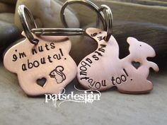 Nuts about you, Squirrel and nut keychain set