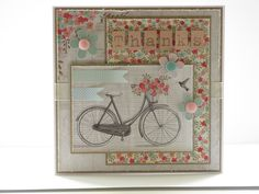 Image and papers from Al Fresco papers with Craftwork Cards flowers and Candi