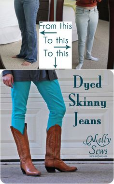 Dyed Jeans Flashback Post - Melly Sews