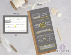 Invitation de mariage Endorphine, version imprimable Design, Printable, Design Comics