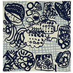 Patrick Heron silk scarf - blue (print made originally 1947)