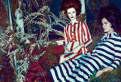 January '13 photo: Steven Klein model: Karen Elson model2: Carolyn Murphy fashion editor: Grace Coddington