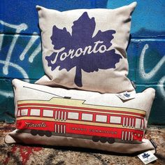 Awesome Toronto pillows to add flair to the bed or couch! Room Decor, Couch, Throw Pillows, Bed, Toronto, Instagram Posts, Awesome, Toss Pillows, Sofa
