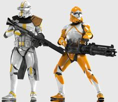 Clonetroopers (Phase II Star Corps and EOD) by Yare-Yare-Dong on DeviantArt Star Wars Droids, Star Wars Rpg, Star Wars Fan Art, Star Wars Clone Wars, Star Wars Pictures, Star Wars Images, Guerra Dos Clones, Star Wars Timeline, Republic Commando