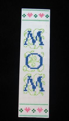 Cross Stitched Bookmark  MOM Bookmark Mother's by DonnaDesigned, $6.00
