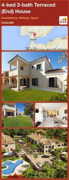 Terraced (End) House in Guadalmina, Malaga, Spain Malaga Spain, Solar Water, Water Heating, Underfloor Heating, Seaside Towns, Private Garden, Luxurious Bedrooms, Townhouse, Luxury Homes