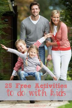25 Free Activities to Do With Kids - Entertaining kids doesn't have to be expensive, nor does it have to involve a screen. This list contains easy to do activities that require minimal supplies.