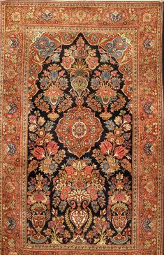 KESCHAN Cork Old, Central Persia, around fine high-quality cork wool, approx. 220 x 133 cm Henrys Auktionshaus AG Iranian Rugs, Painting Carpet, Mughal Paintings, Dark Carpet, Cheap Carpet Runners, Persian Carpet, Persian Rug, Patterned Carpet, Carpet Design