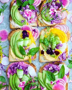 3 colours cauliflower baba ghannouj on toasts : White, yellow & pink with unicorn toppings What colour (s) are you attracted to? Colours on your plate add more life to your days ❤️ nutritionally, emotionally & spiritually! Personally, colours always lift me up and change the way I perceive my world, my food and my day ✨ Food does go beyond itself Happy Friday . . . . . . . . #bestofvegan#veganfoodshare #yahoofood#gatheringslikethese#lifeandthyme #beautifulcuisines#favori...