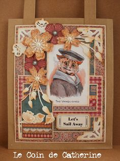 """Here is a gift bag I have made using one of the images of the set """"Adorable L.Wain Kittens"""" from Nicecrane Designs..."""