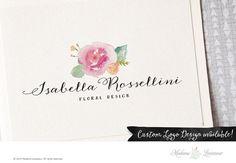 premade logo design flower logo rose logo by MadameLevasseur