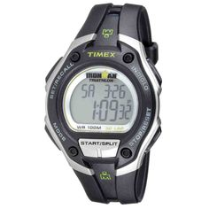 Ironman Triathlon is the best sport event and if you want to join with that, you must have Timex Ironman Triathlon watch that is suitable for the event. Brand Name Watches, Sport Watches, Cool Watches, Watches For Men, Ironman Triathlon Watch, Timex Indiglo, Timex Watches, Fitness Watch, Watch Sale