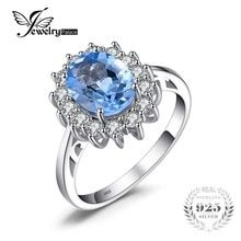 Cheap fine jewelry, Buy Quality jewelry engagement ring directly from China jewelry rings Suppliers: JewelryPalace Princess Diana William Kate Natural Blue Topaz Engagement Halo Ring 925 Sterling Silver Fine Jewelry Fashion Princess Diana Engagement Ring, Silver Engagement Rings, Wedding Engagement, Solitaire Engagement, Blue Sapphire Rings, Blue Topaz Ring, Citrine Ring, Citrine Gemstone, Red Topaz