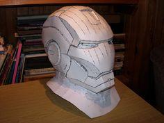 Iron Man Helmet pepakura model by CubicalMember.deviantart.com