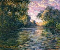 "dappledwithshadow: ""Claude Monet Morning on the Seine near Giverny "" Claude Monet, Canvas Wall Art, Canvas Prints, Art Prints, Villa Romaine, Monet Paintings, Floral Paintings, Le Havre, Art Impressions"