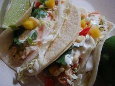 Salmon Tacos with Mango Corn Salsa