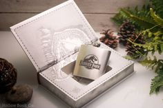 Hollow Book Safe & Hip Flask Jurassic Park: The Lost World (LEATHER BOUND) in HollowBookCo